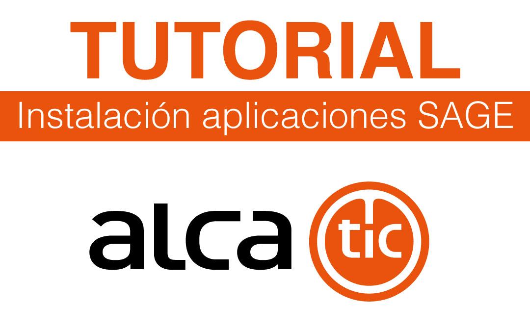 Tutorial de ayuda a la instalación de aplicaciones Sage