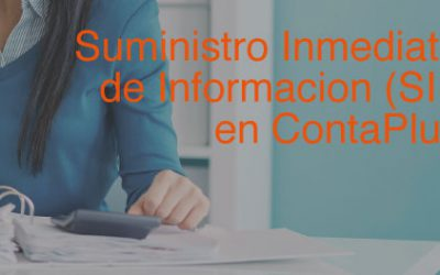 Suministro Inmediato de Informacion (SII) en ContaPlus