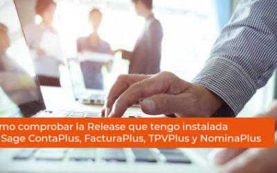 Cómo comprobar la Release que tengo instalada en Sage ContaPlus, FacturaPlus, TPVPlus y NominaPlus