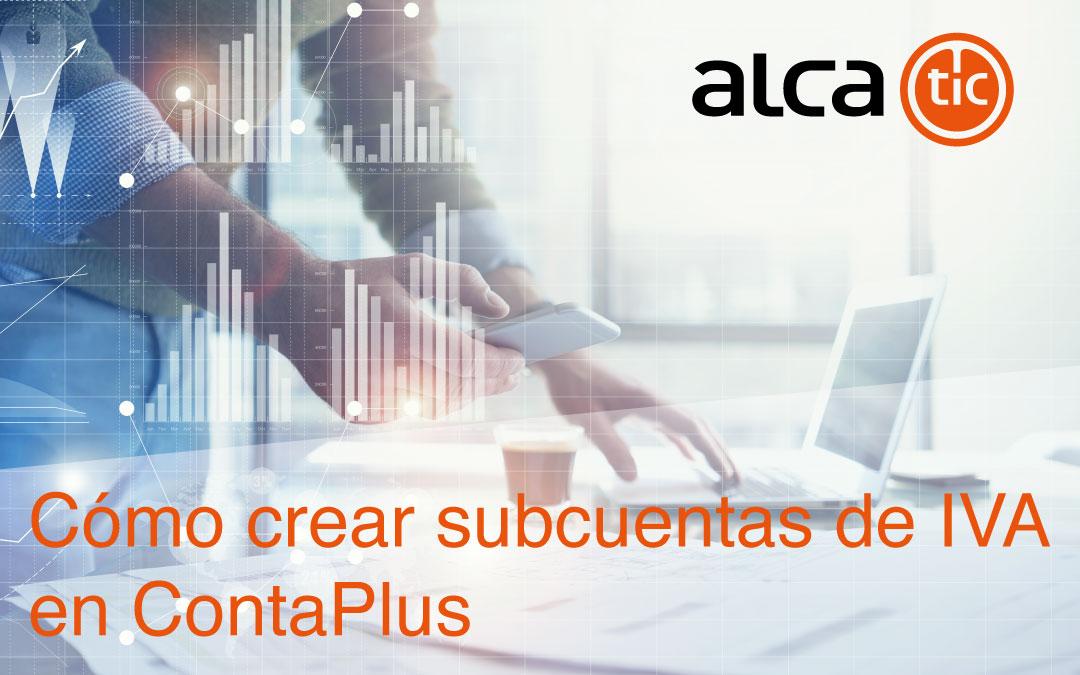 Como crear subcuentas de IVA en ContaPlus