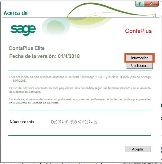 Como comprobar la Release que tengo instalada en Sage ContaPlus, FacturaPlus, TPVPlus y NominaPlus