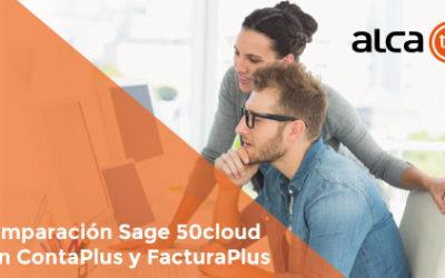 Comparación Sage 50cloud con ContaPlus y FacturaPlus