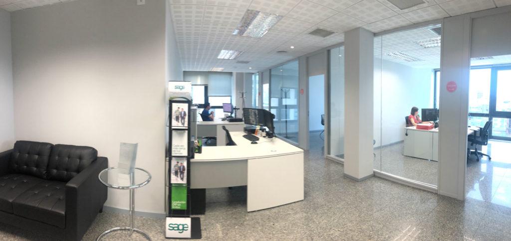 Vista general de la nueva oficina de AlcaTic