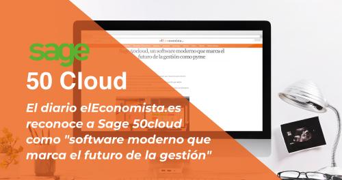 """El diario elEconomista reconoce a Sage 50cloud como """"software moderno que marca el futuro de la gestión"""""""