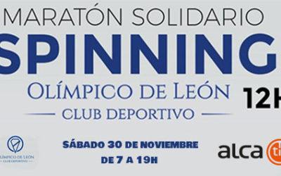 AlcaTic colabora con el maratón de Spinning solidario del Olímpico de León