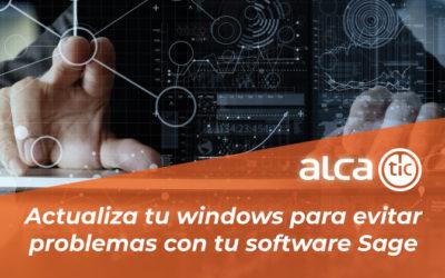 Actualiza windows para evitar problemas con tu software Sage