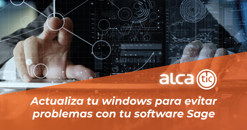 Actualiza windows para evitar problemas con tu software Sage