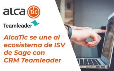 AlcaTic se une al ecosistema de ISV de Sage con CRM Teamleader
