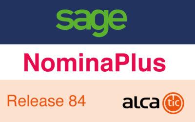Sage NominaPlus Release 84