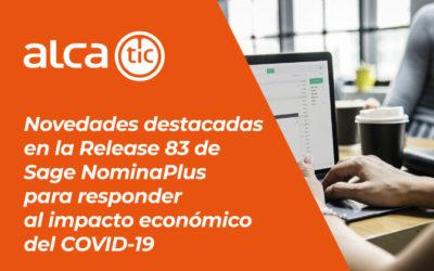 Novedades destacadas en la Release 83 de Sage NominaPlus para responder al impacto económico del COVID-19
