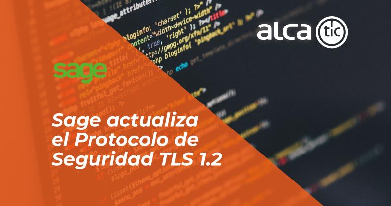 Release Sage que actualiza el protocolo TLS en ContaPlus, FacturaPlus y NominaPlus
