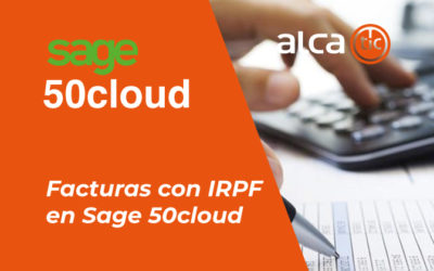 Facturas con IRPF en Sage 50cloud