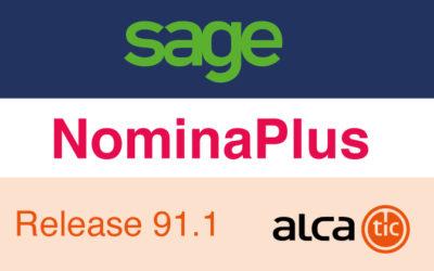 Sage NominaPlus Release 91.1