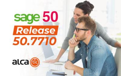 Release 50.7710 de Sage 50