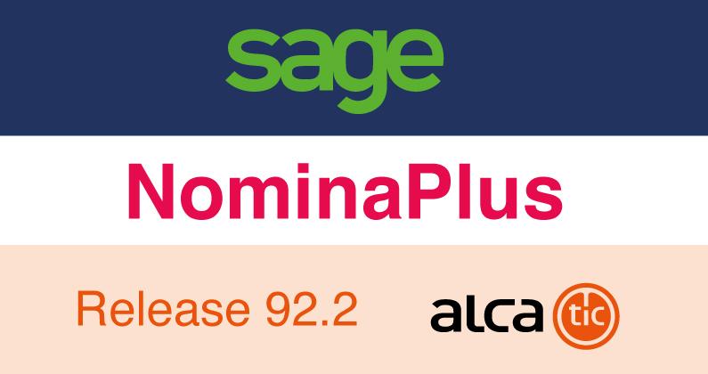 Sage NominaPlus Release 92.2