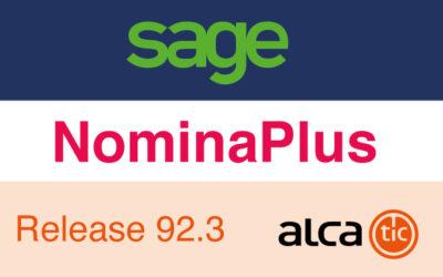 Sage NominaPlus Release 92.3