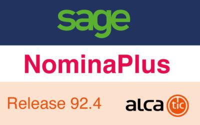 Sage NominaPlus Release 92.4