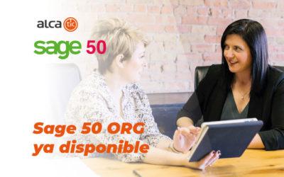 Sage 50 ORG ya está disponible