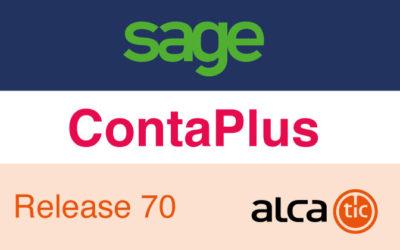 Sage ContaPlus Release 70