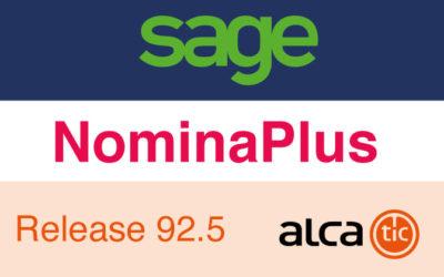 Sage NominaPlus Release 92.5