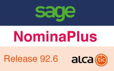 Sage NominaPlus Release 92.6