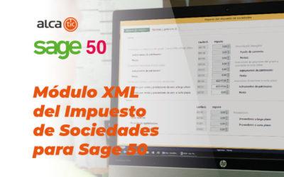 Módulo XML del Impuesto de Sociedades para Sage 50