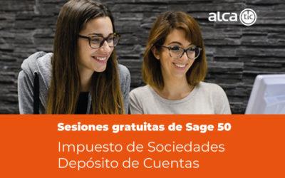 Sesiones gratuitas de Sage 50. Impuesto de Sociedades y Depósito de Cuentas